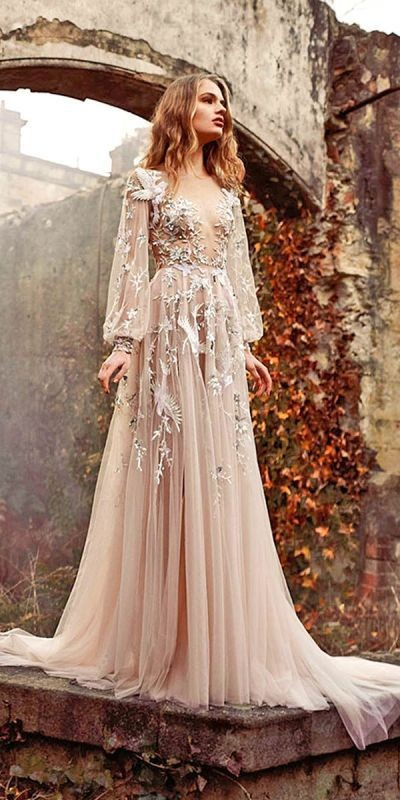 colored-wedding-dresses-2017-15 75+ Most Breathtaking Colored Wedding Dresses in 2020