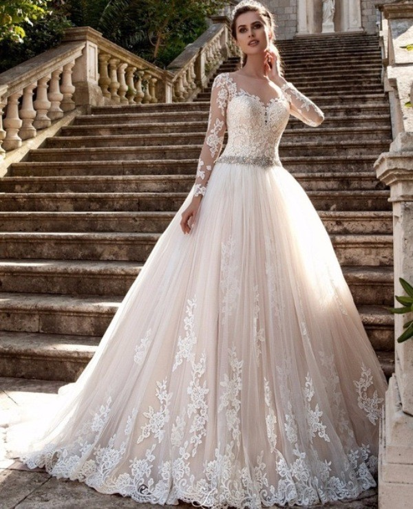colored-wedding-dresses-2017-153 75+ Most Breathtaking Colored Wedding Dresses in 2020