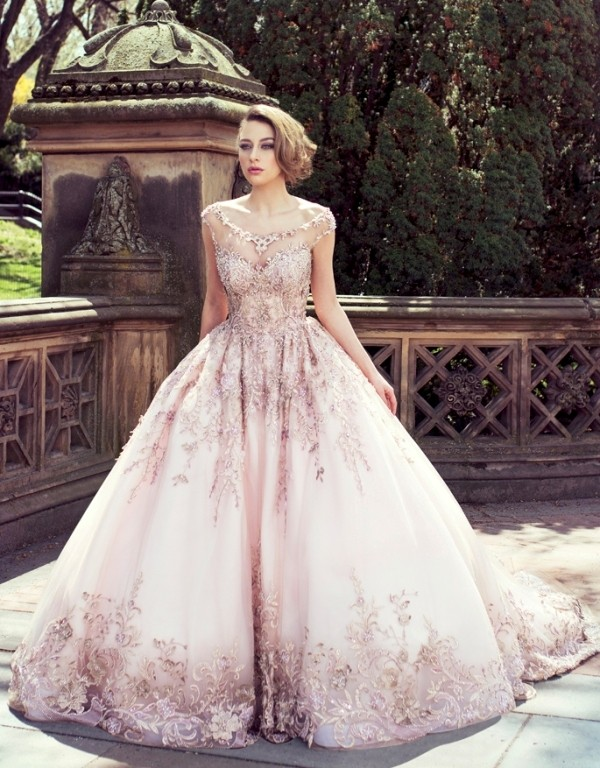 colored-wedding-dresses-2017-157 75+ Most Breathtaking Colored Wedding Dresses in 2020