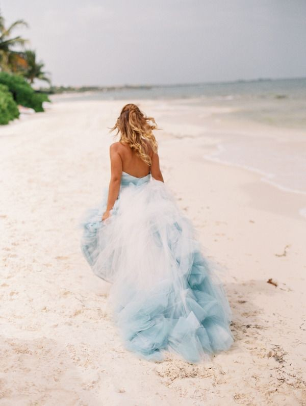 colored-wedding-dresses-2017-159 75+ Most Breathtaking Colored Wedding Dresses in 2020