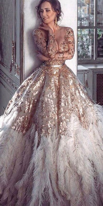 colored-wedding-dresses-2017-16 75+ Most Breathtaking Colored Wedding Dresses in 2020