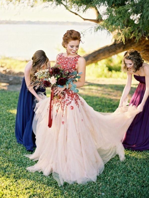 colored-wedding-dresses-2017-160 75+ Most Breathtaking Colored Wedding Dresses in 2020