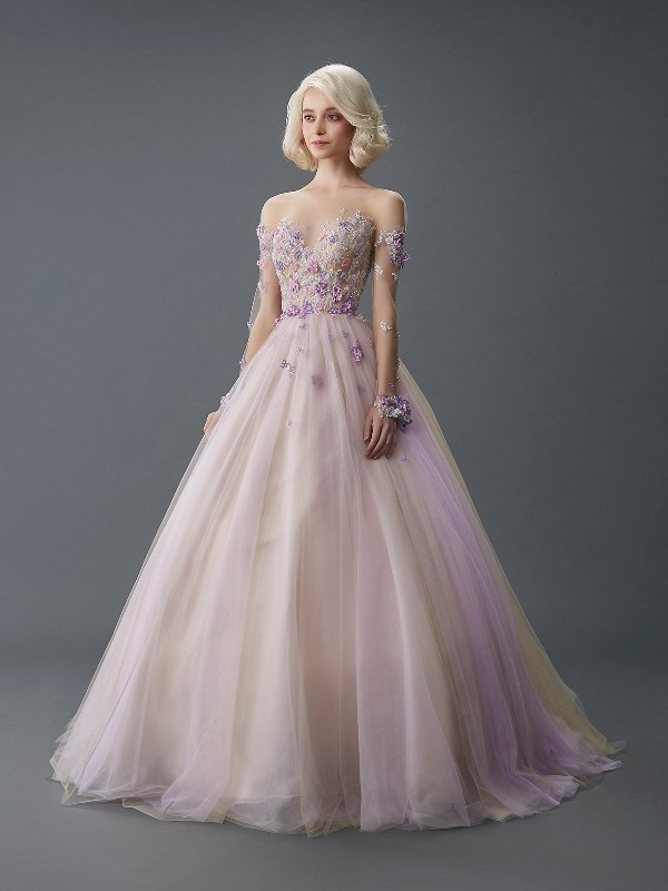 colored-wedding-dresses-2017-162 75+ Most Breathtaking Colored Wedding Dresses in 2018