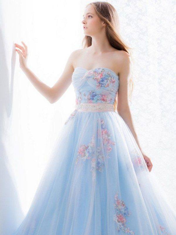 colored-wedding-dresses-2017-163 75+ Most Breathtaking Colored Wedding Dresses in 2020