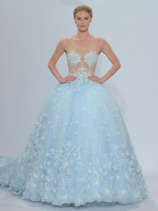 colored-wedding-dresses-2017-164 75+ Most Breathtaking Colored Wedding Dresses in 2020