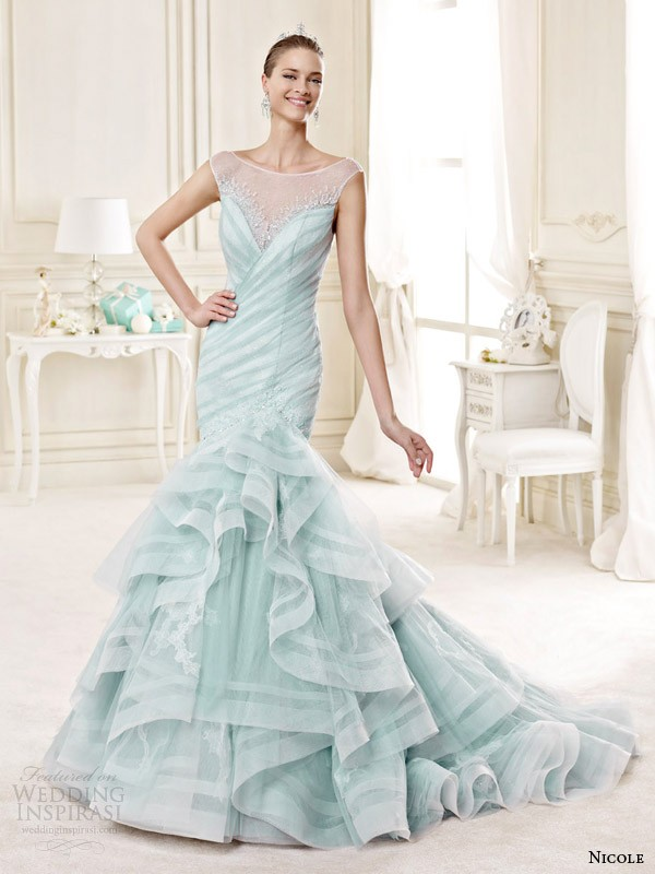 colored-wedding-dresses-2017-168 75+ Most Breathtaking Colored Wedding Dresses in 2020