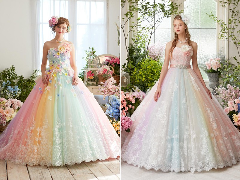 colored-wedding-dresses-2017-172 75+ Most Breathtaking Colored Wedding Dresses in 2020