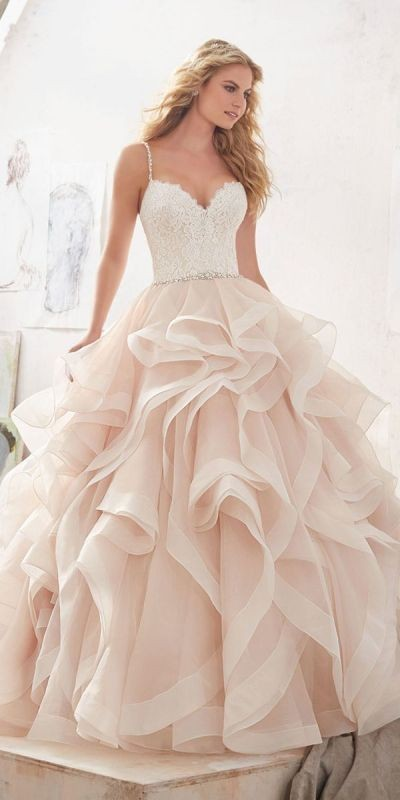 colored-wedding-dresses-2017-18 75+ Most Breathtaking Colored Wedding Dresses in 2020