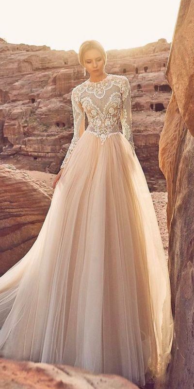 colored-wedding-dresses-2017-20 75+ Most Breathtaking Colored Wedding Dresses in 2020