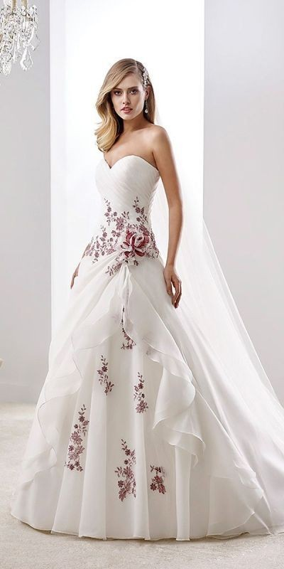 colored-wedding-dresses-2017-21 75+ Most Breathtaking Colored Wedding Dresses in 2018