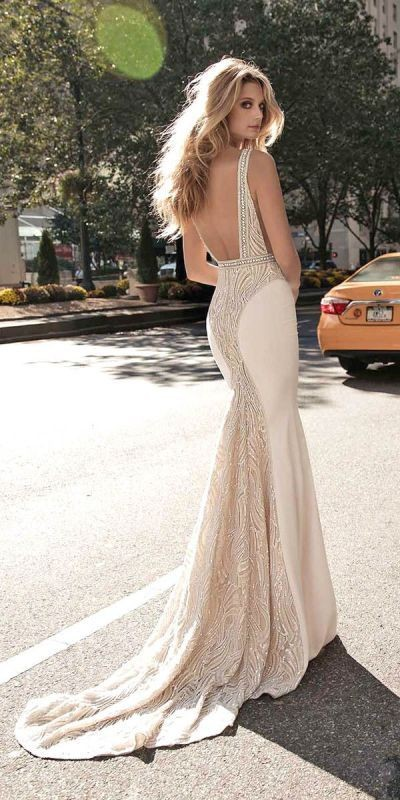 colored-wedding-dresses-2017-22 75+ Most Breathtaking Colored Wedding Dresses in 2020