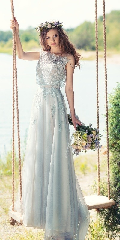 colored-wedding-dresses-2017-23 75+ Most Breathtaking Colored Wedding Dresses in 2018