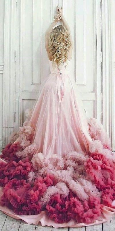 colored-wedding-dresses-2017-24 75+ Most Breathtaking Colored Wedding Dresses in 2020