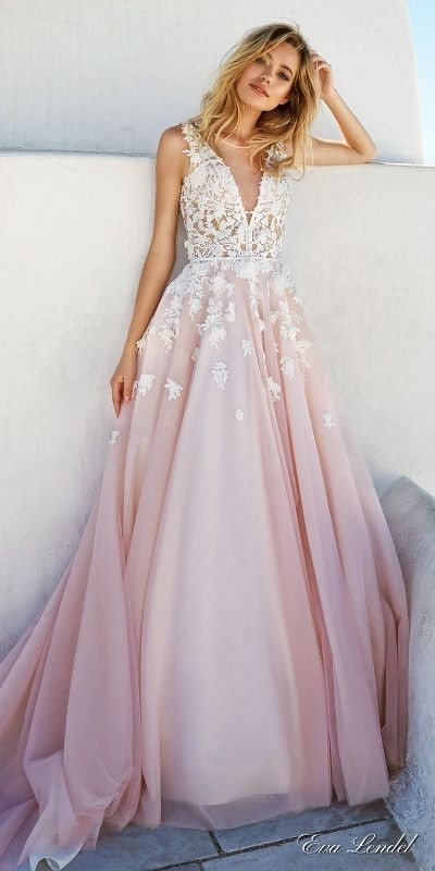 colored-wedding-dresses-2017-25 75+ Most Breathtaking Colored Wedding Dresses in 2020