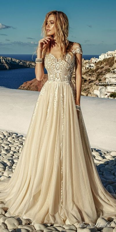 colored-wedding-dresses-2017-26 75+ Most Breathtaking Colored Wedding Dresses in 2020
