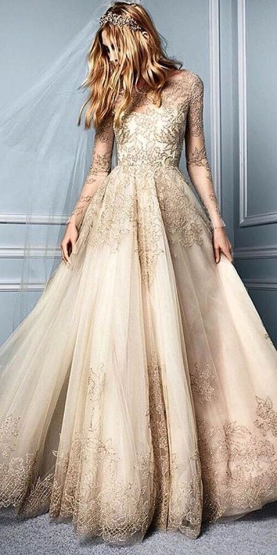 colored-wedding-dresses-2017-27 75+ Most Breathtaking Colored Wedding Dresses in 2020