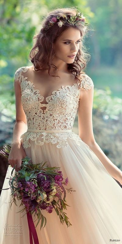 colored-wedding-dresses-2017-28 75+ Most Breathtaking Colored Wedding Dresses in 2020