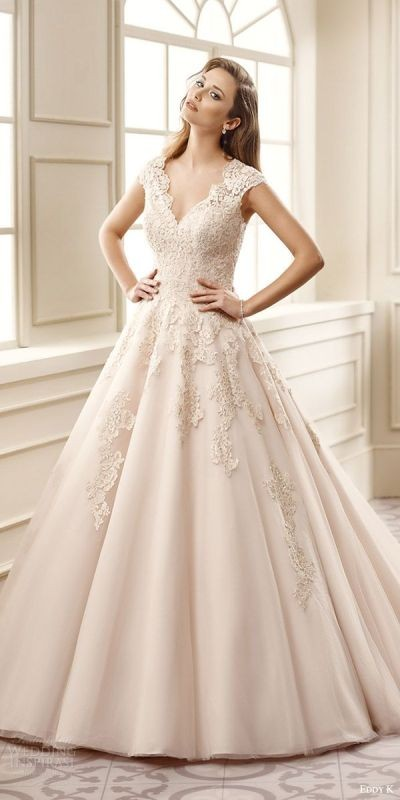 colored-wedding-dresses-2017-29 75+ Most Breathtaking Colored Wedding Dresses in 2020