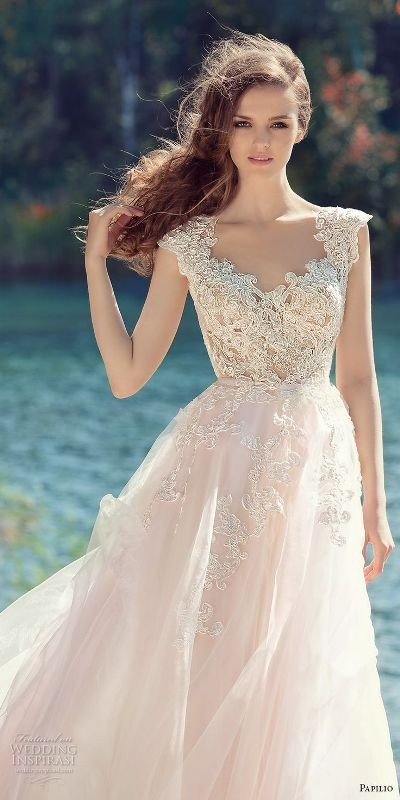 colored-wedding-dresses-2017-30 75+ Most Breathtaking Colored Wedding Dresses in 2020