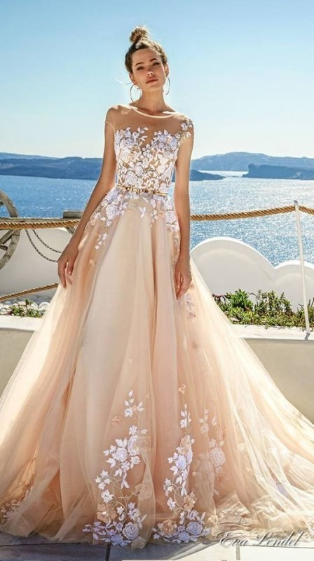colored-wedding-dresses-2017-32 75+ Most Breathtaking Colored Wedding Dresses in 2020