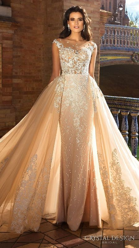 colored-wedding-dresses-2017-34 75+ Most Breathtaking Colored Wedding Dresses in 2020