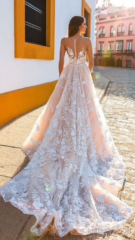 colored-wedding-dresses-2017-35 75+ Most Breathtaking Colored Wedding Dresses in 2020