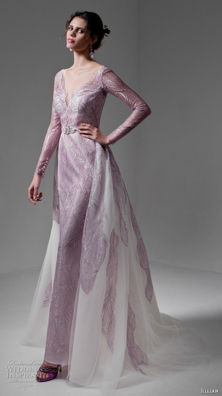 colored-wedding-dresses-2017-37 75+ Most Breathtaking Colored Wedding Dresses in 2020