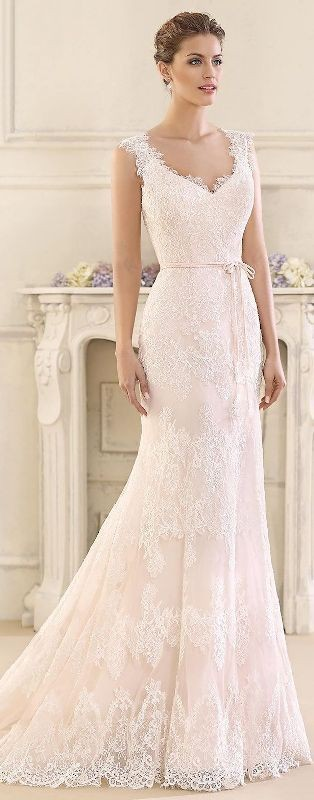 colored-wedding-dresses-2017-4 75+ Most Breathtaking Colored Wedding Dresses in 2020
