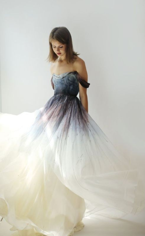colored-wedding-dresses-2017-41 75+ Most Breathtaking Colored Wedding Dresses in 2017