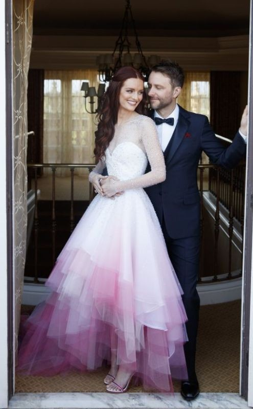 colored-wedding-dresses-2017-42 75+ Most Breathtaking Colored Wedding Dresses in 2020