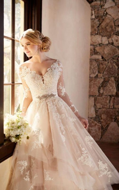 colored-wedding-dresses-2017-44 75+ Most Breathtaking Colored Wedding Dresses in 2020
