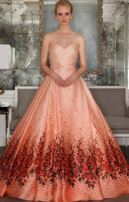 colored-wedding-dresses-2017-48 75+ Most Breathtaking Colored Wedding Dresses in 2018