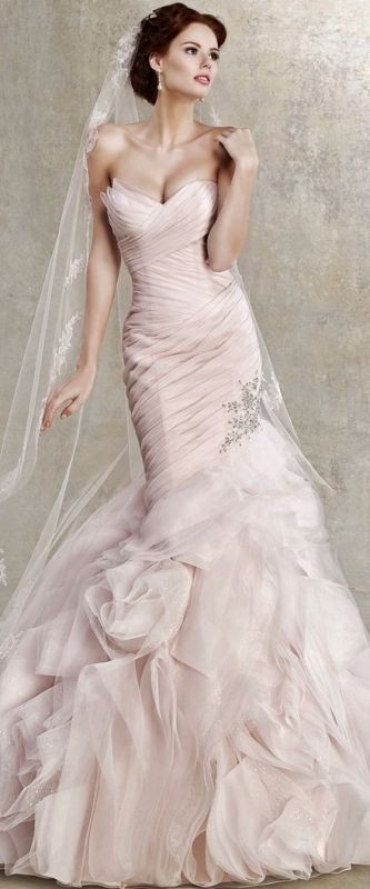 colored-wedding-dresses-2017-5 75+ Most Breathtaking Colored Wedding Dresses in 2020