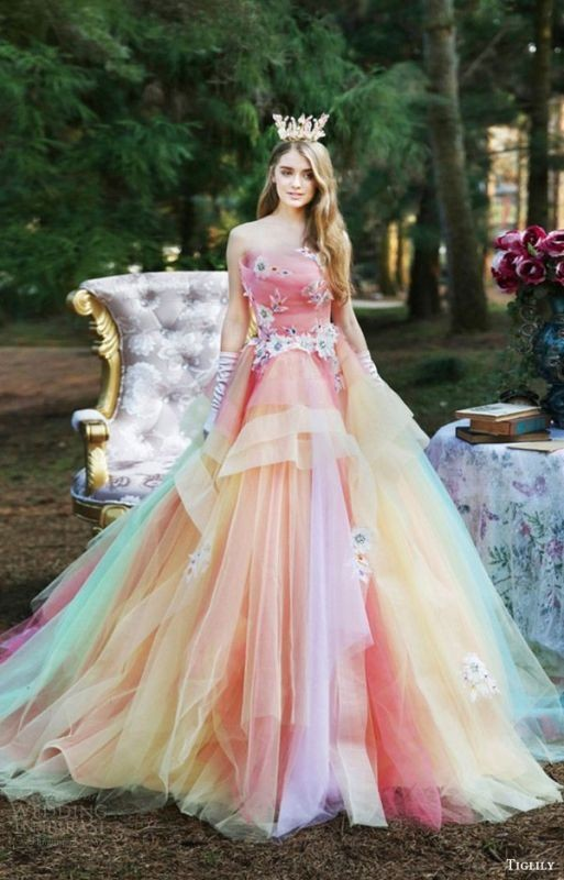 colored-wedding-dresses-2017-50 75+ Most Breathtaking Colored Wedding Dresses in 2020