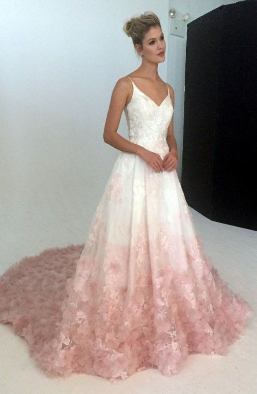 colored-wedding-dresses-2017-52 75+ Most Breathtaking Colored Wedding Dresses in 2020