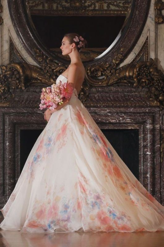 colored-wedding-dresses-2017-53 75+ Most Breathtaking Colored Wedding Dresses in 2020