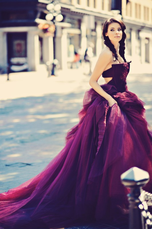 colored-wedding-dresses-2017-57 75+ Most Breathtaking Colored Wedding Dresses in 2020