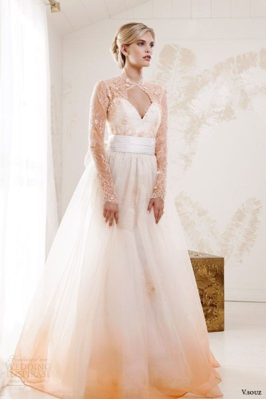 colored-wedding-dresses-2017-60 75+ Most Breathtaking Colored Wedding Dresses in 2020