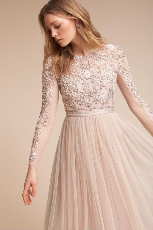 colored-wedding-dresses-2017-61 75+ Most Breathtaking Colored Wedding Dresses in 2020