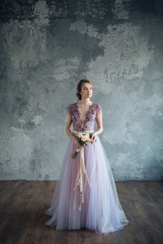colored-wedding-dresses-2017-62 75+ Most Breathtaking Colored Wedding Dresses in 2020