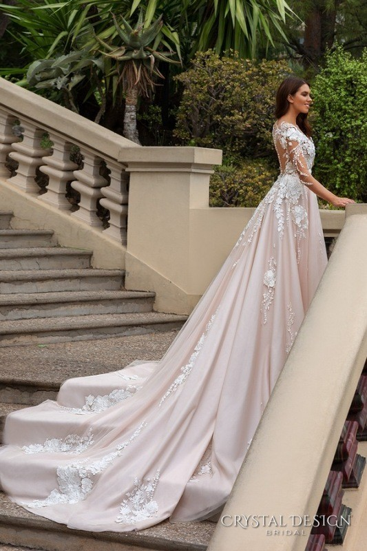 colored-wedding-dresses-2017-66 75+ Most Breathtaking Colored Wedding Dresses in 2020