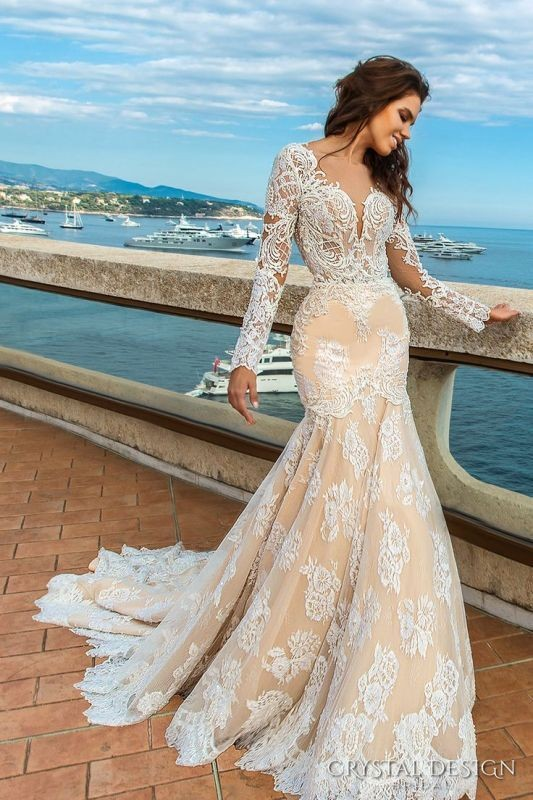 colored-wedding-dresses-2017-68 75+ Most Breathtaking Colored Wedding Dresses in 2020