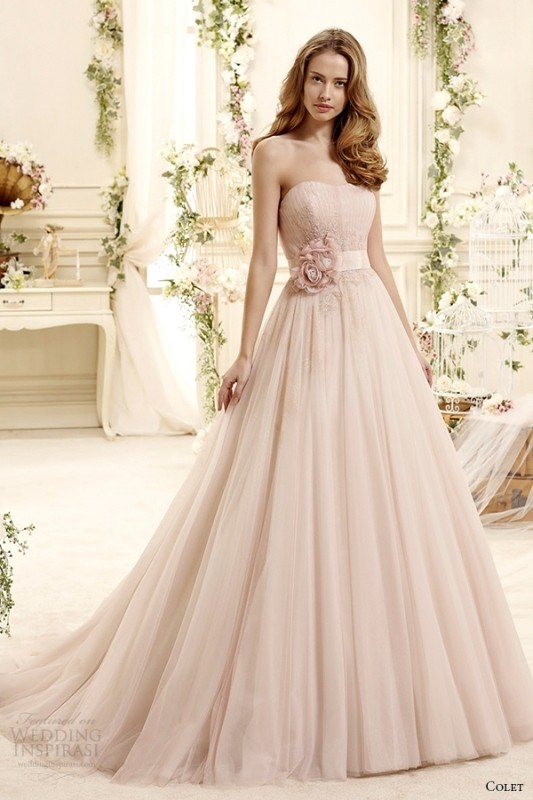 colored-wedding-dresses-2017-69 75+ Most Breathtaking Colored Wedding Dresses in 2020