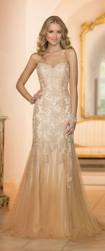 colored-wedding-dresses-2017-7 75+ Most Breathtaking Colored Wedding Dresses in 2020