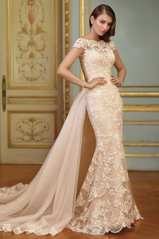 colored-wedding-dresses-2017-70 75+ Most Breathtaking Colored Wedding Dresses in 2020