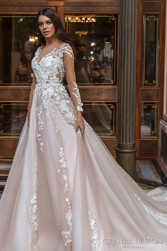 colored-wedding-dresses-2017-75 75+ Most Breathtaking Colored Wedding Dresses in 2020