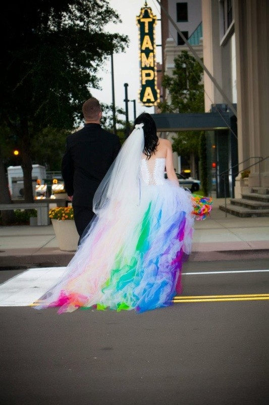 colored-wedding-dresses-2017-79 75+ Most Breathtaking Colored Wedding Dresses in 2020