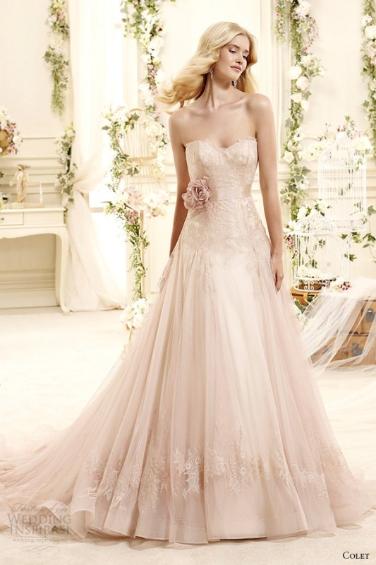 colored-wedding-dresses-2017-80 75+ Most Breathtaking Colored Wedding Dresses in 2018