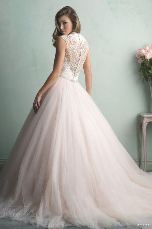colored-wedding-dresses-2017-84 75+ Most Breathtaking Colored Wedding Dresses in 2020