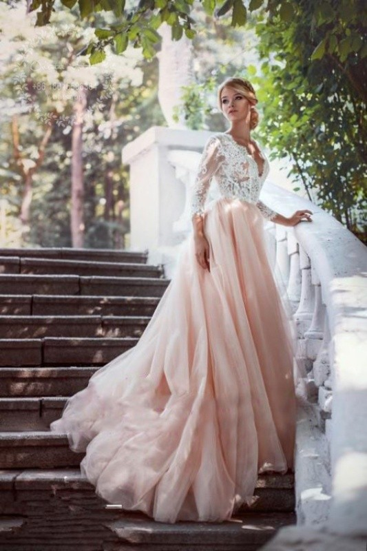colored-wedding-dresses-2017-90 75+ Most Breathtaking Colored Wedding Dresses in 2020